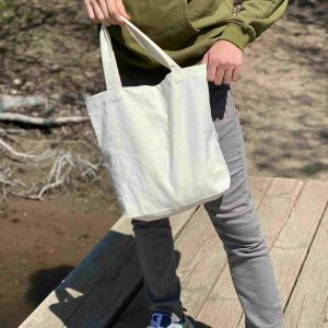 Natural Colored Small Tote Bag